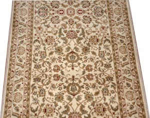 Dean Bergama Ivory Carpet Rug Hallway Stair Runner - Purchase by the Linear Foot
