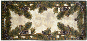 "Washable Non-Skid Pine Cone Kitchen Mat/Rug 20"" x 44"""