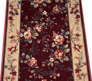 Chelsea Garden Red Carpet Rug Hallway Stair Runner - Purchase by the Linear Foot