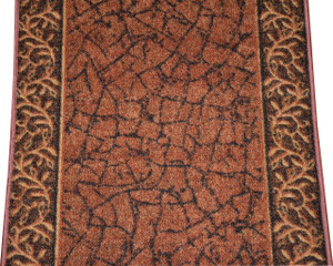 Dean Custom Length Washable Carpet Rug Runner - Garden Path Terra Cotta - Sold by the Linear Foot