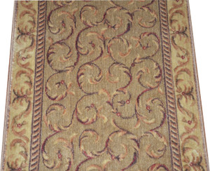 Dean Meadow Scrollwork Carpet Rug Hallway Stair Runner - Purchase by the Linear Foot