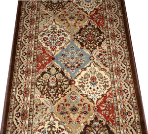 "Dean Panel Kerman Chocolate 31""W Carpet Rug Hallway Runner - Custom Lengths - Purchase by the Linear Foot"