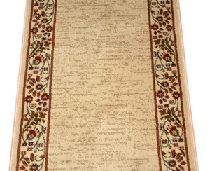 Talas Floral Beige Premium Carpet Rug Runner - Purchase by the Linear Foot