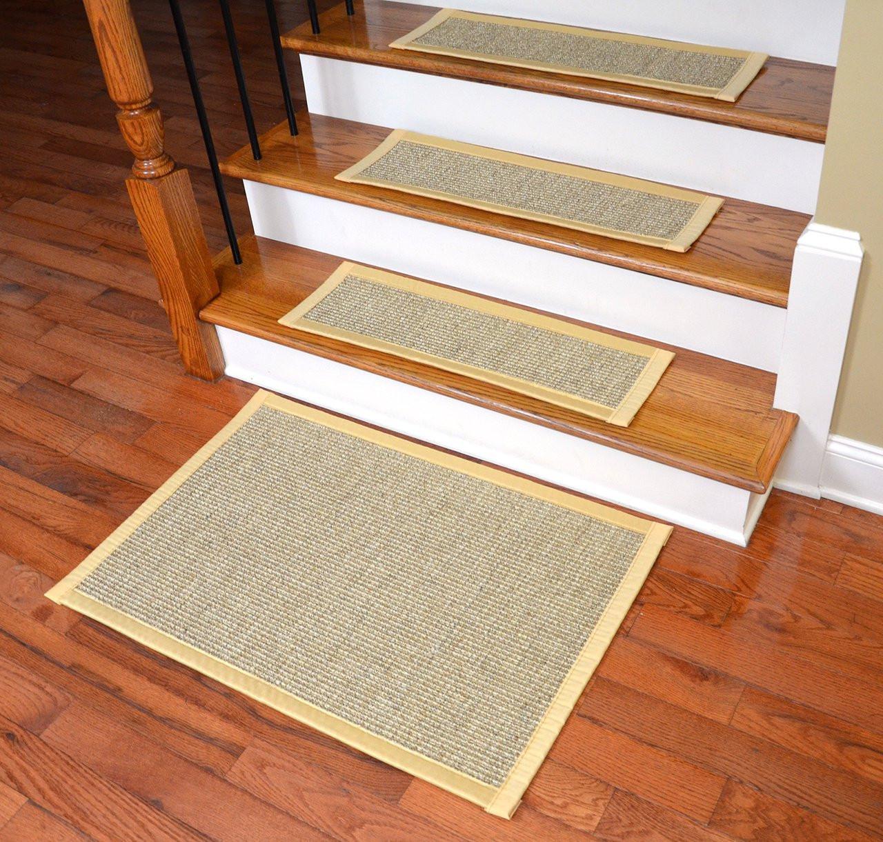 Dean Attachable Non Slip Sisal Carpet Stair Tread Runner