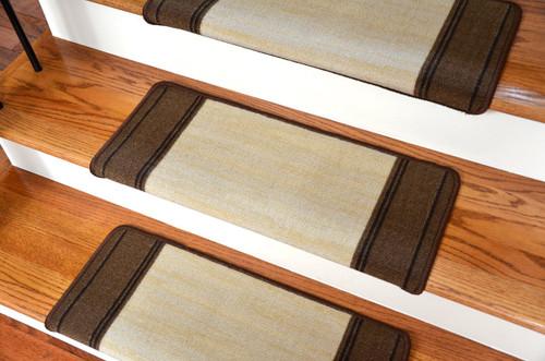 Elegant Dean Modern DIY Bullnose Wraparound Peel And Stick Non Skid Carpet Stair  Treads   Boxer Beige (13)