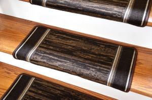 Dean Modern DIY Bullnose Wraparound Non Skid Carpet Stair Treads   Boxer  Chocolate