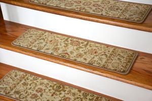 "Dean Premium Carpet Stair Tread Rugs - Bergama Ivory 31"" W"