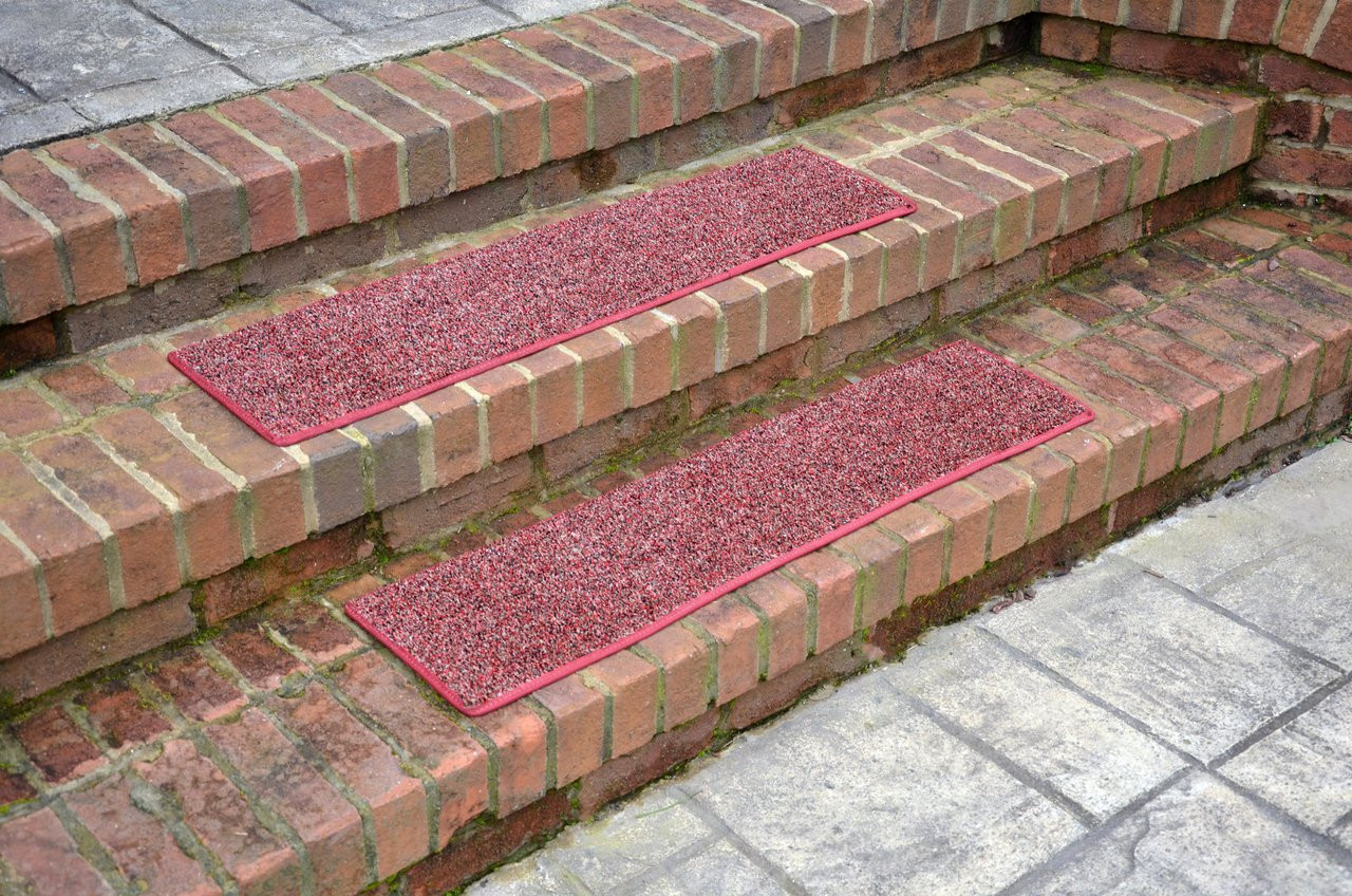 Dean Indoor Outdoor Carpet Stair Treads China Berry 36