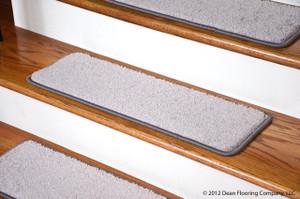 "Dean DIY 27"" x 9"" Premium Carpet Stair Treads - Color: Dazzle Taupe/Gray (13)"