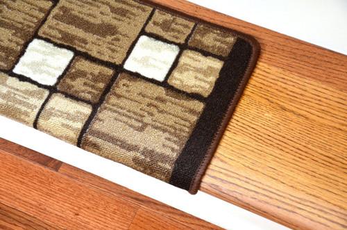 Dean Modern DIY Bullnose Wraparound Non Skid Carpet Stair Treads   Hop  Scotch Beige (13)