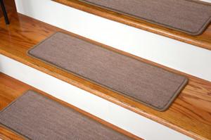 """Dean Premium Carpet Stair Treads - Keaton Taupe (13) 27"""" x 9"""""""