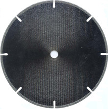 "10"" X 1/8"" X 1"" Bore Slotted Diamond Saw Blade"