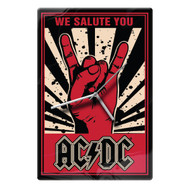 AC/DC We Salute You Glass Clock