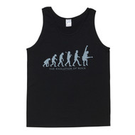 Evolution of Rock Mens Black Singlet