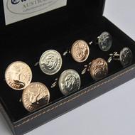 Australian Coin Cufflinks – 4 Pair Set