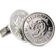 Australian Shilling Coin Cufflinks