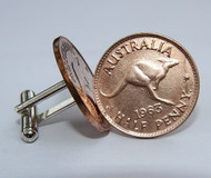 1953 birth year Australian-Halfpenny-Coin-Cufflinks-460-545