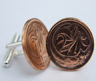 1975 birth year Australian-2-Cent-Coin-Cufflinks-Side-med-460x545