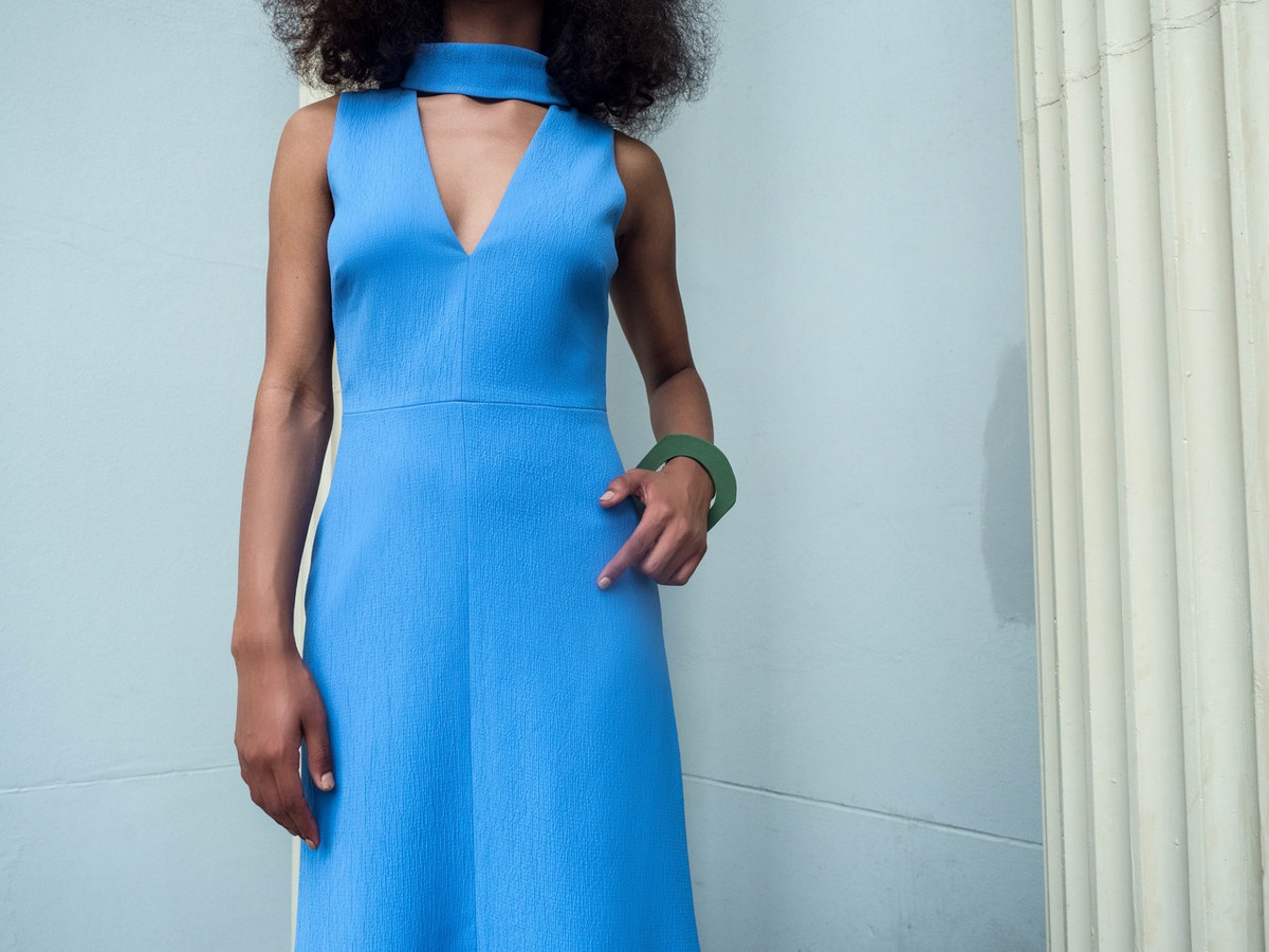 C/MEO FOR SAINT HERON FIRST THING DRESS - PERIWINKLE