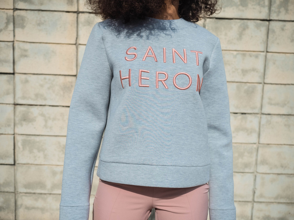 C/MEO FOR SAINT HERON NEXT PHASE SWEATER - GREY MARBLE