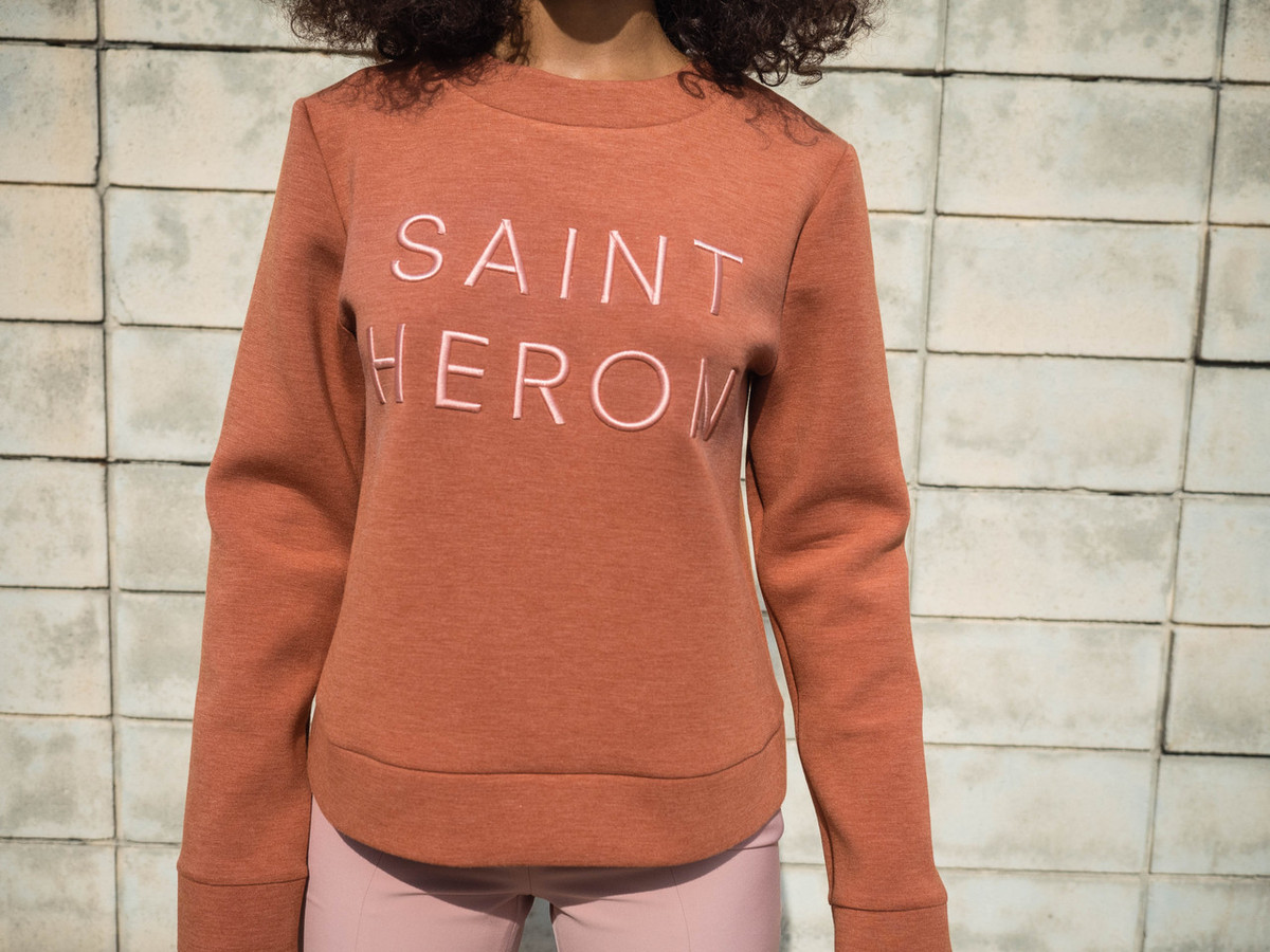 C/MEO FOR SAINT HERON NEXT PHASE SWEATER - ROSEWOOD