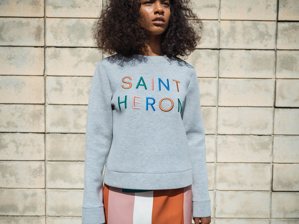 C/MEO FOR SAINT HERON NEW PHASE SWEATER - GREY MULTI