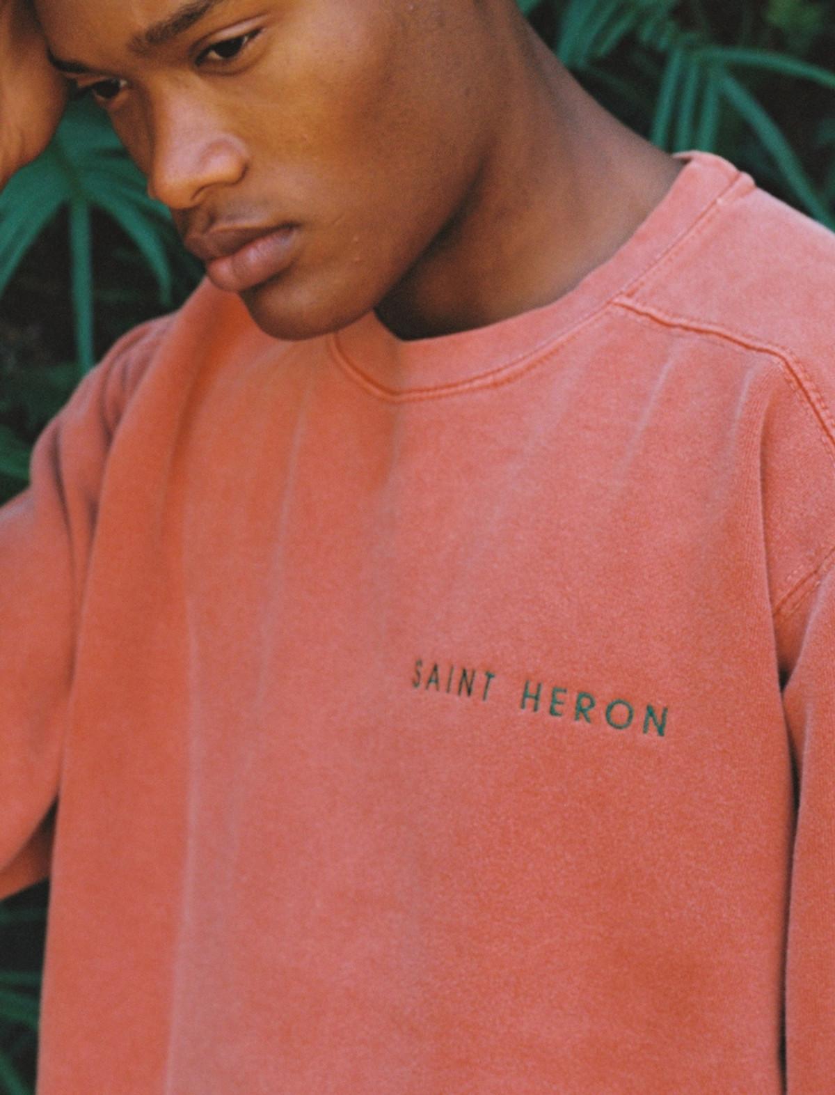 SAINT HERON UNISEX CREWNECK SWEATSHIRT - YAM/EMERALD