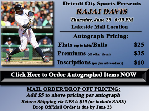 Click HERE to Pre-Order Autographed Rajai Davis Merchandise