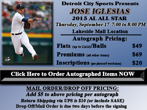 Click HERE to Pre-Order Autographed Jose Iglesias Merchandise