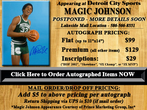 Click HERE to Pre-Order Autographed Magic Johnson Merchandise