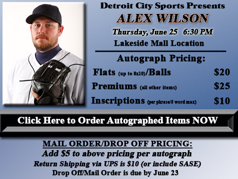 Click HERE to Pre-Order Autographed Alex Wilson Merchandise