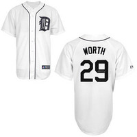 Danny Worth Autographed Detroit Tigers Jersey