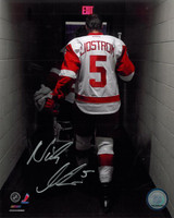 Nicklas Lidstrom Autographed 8x10 Photo #6 - Walking Off the Ice