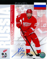 Pavel Datsyuk Autographed Detroit Red Wings 8x10 Photo #10 - Russia