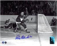 Alex Delvecchio Autographed Detroit Red Wings 8x10 Photo #5 - Scoring a Goal