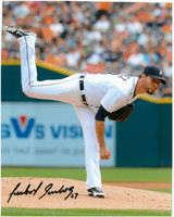 Anibal Sanchez Autographed Detroit Tigers 8x10 Photo #7 - Follow Through
