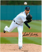 Anibal Sanchez Autographed Detroit Tigers 8x10 Photo #6 - The Pitch