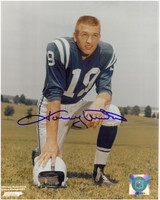 Johnny Unitas Autographed Baltimore Colts 8x10 Photo