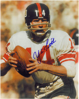 Y.A. Tittle Autographed New York Giants 8x10 Photo