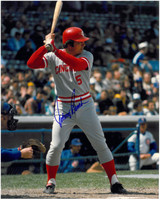 Johnny Bench Autographed Cincinnati Reds 8x10 Photo