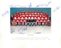 1972 Team Canada Summit Series Autographed 16x20 Photo with 13 Signatures