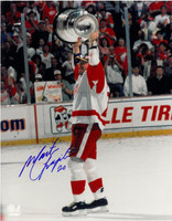 Martin Lapointe Autographed Detroit Red Wings 11x14 Photo