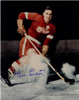 Ted Lindsay Autographed Detroit Red Wings 11x14 Photo #1