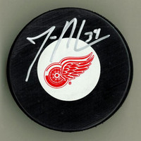 Jan Mursak Autographed Detroit Red Wings Hockey Puck
