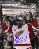 Kyle Quincey Autographed Detroit Red Wings 8x10 Print #3 - 2008 Cup