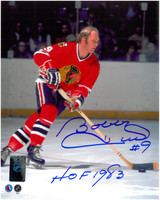 "Bobby Hull Autographed Chicago Blackhawks 8x10 Photo #6 w/ ""HOF 1983"""