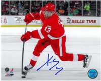 Pavel Datsyuk Autographed Detroit Red Wings 8x10 Photo #3 - Shooting (Horizontal)