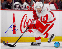 Pavel Datsyuk Autographed Detroit Red Wings 8x10 Photo #2 - Skating (Horizontal)