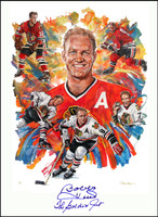 """Bobby Hull - The Golden Jet"" Autographed Remarqued Giclée"
