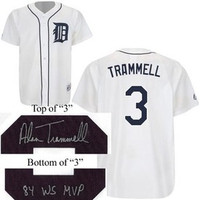 Alan Trammell Autographed Detroit Tigers Jersey inscribed MVP or HOF (Pre Order)